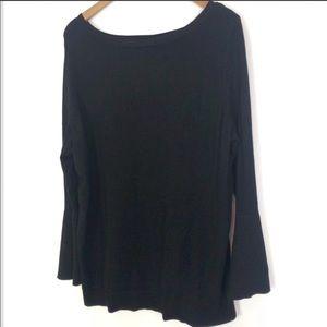 Lane Bryant black scoop neck sweater sz 14 / 16